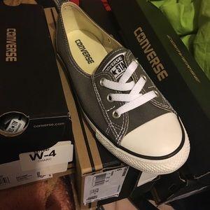 7eb151db0e31 Converse Shoes - CONVERSE CHUCK TAYLOR BALLET LACE SLIP CHARCOAL